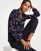 Ann Taylor Savannah Floral Camp Shirt