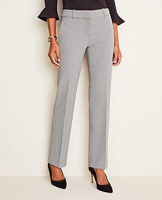 Ann Taylor The Straight Pant In Houndstooth - Curvy Fit