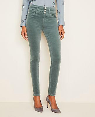 Ann Taylor Velvet High Rise Skinny Jeans - Curvy Fit