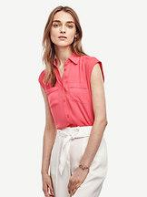 Ann Taylor Tall Cap Sleeve Camp Shirt