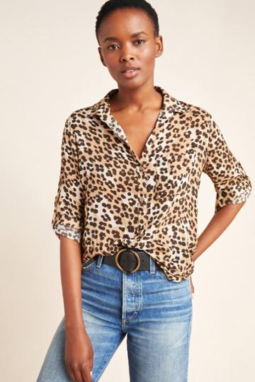 Cloth & Stone Lana Leopard Buttondown