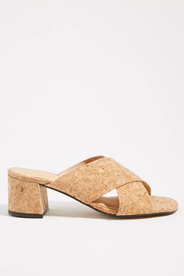 Anthropologie Cork Heeled Sandals