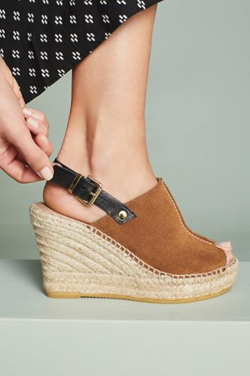 Anthropologie Slingback Wedge Sandals
