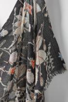 Epice Tiled Floral Wool Scarf