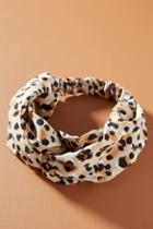Anthropologie Cheetah-printed Knotted Headband
