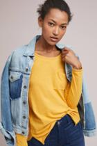 Anthropologie Scoop Neck Pocket Top