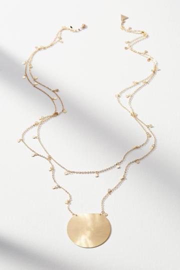 Serefina Sundial Pendant Necklace