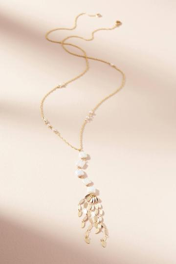 Anthropologie Pearl Pendant Necklace