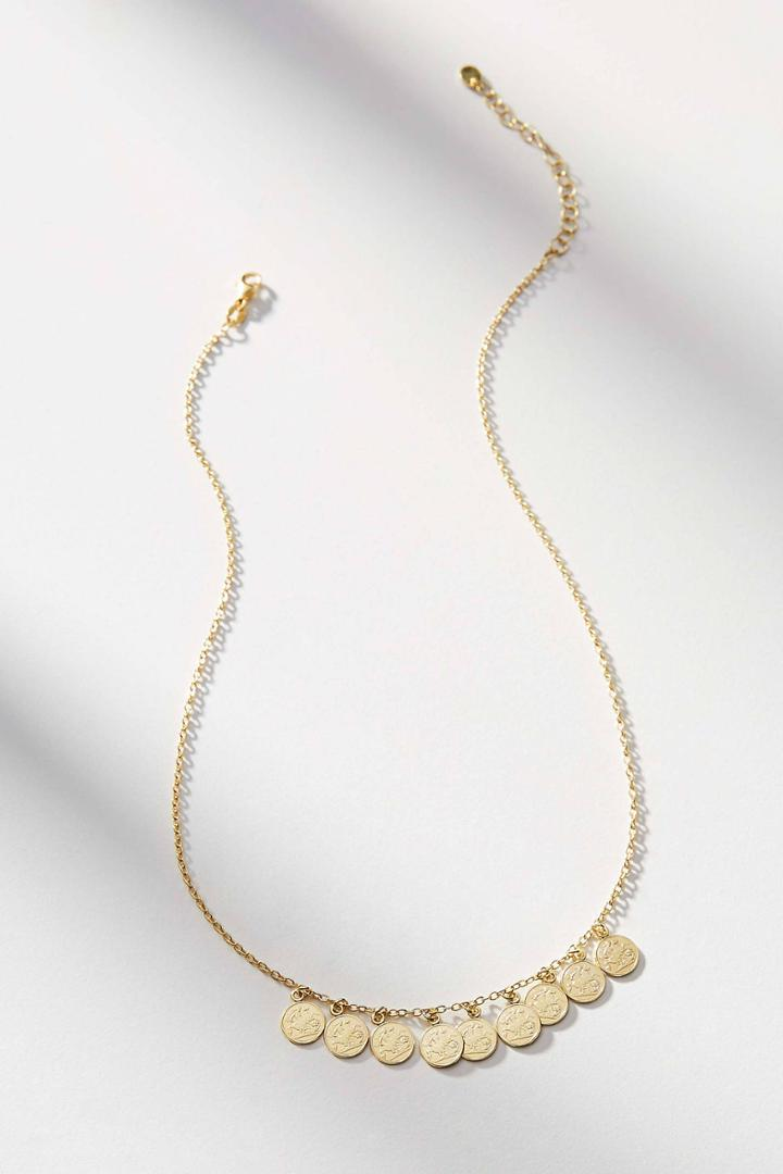 Anthropologie Collecting Coins Necklace