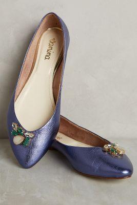 Vanina Shimmery Flats Blue