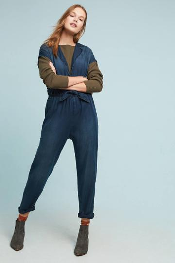 Cloth & Stone Belted Chambray Jumpsuit