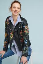 Isato Embroidered Leather Jacket