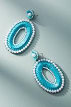 Deepa Sequined Flora Drop Earrings