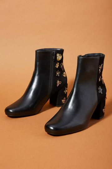 Anthropologie Embellished Booties