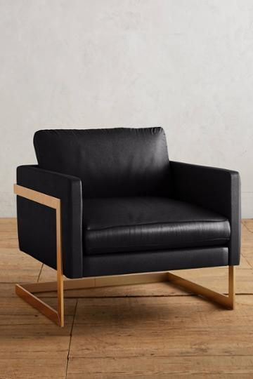 Anthropologie Premium Leather Meredith Chair