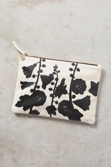 Clare V. Floral Pouch