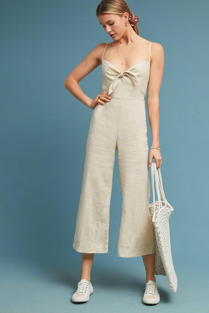Faithfull Cropped Linen Jumpsuit
