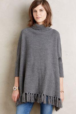 Anthropologie Turtleneck Sweater Poncho