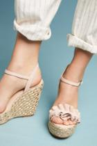 Elysess Ruffled Wedge Sandals