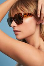 Anthropologie Rectangle Tortoise Sunglasses