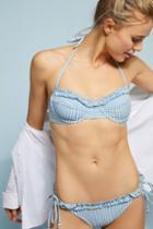 Shoshanna Pinstriped Bikini Bikini Bikini Bottom