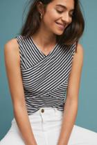 Three Dots Striped Crossover Tank