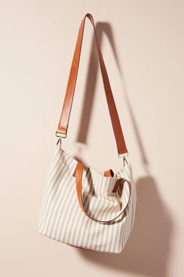 Anthropologie Myrtle Striped Tote Bag