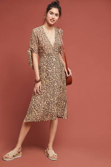 Faithfull Leopard Midi Dress