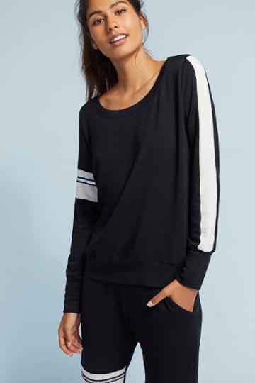 Nesh Nyc Sporty Striped Sweatshirt