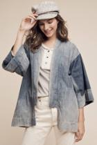 Bliss & Mischief Washed Denim Kimono