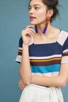Maeve Graphic Striped Top