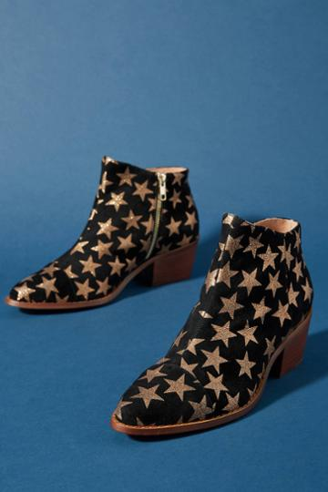 Anthropologie Star-embellished Booties