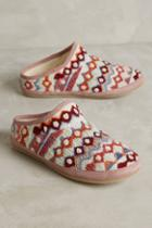Anthropologie Embroidered Caro Slippers