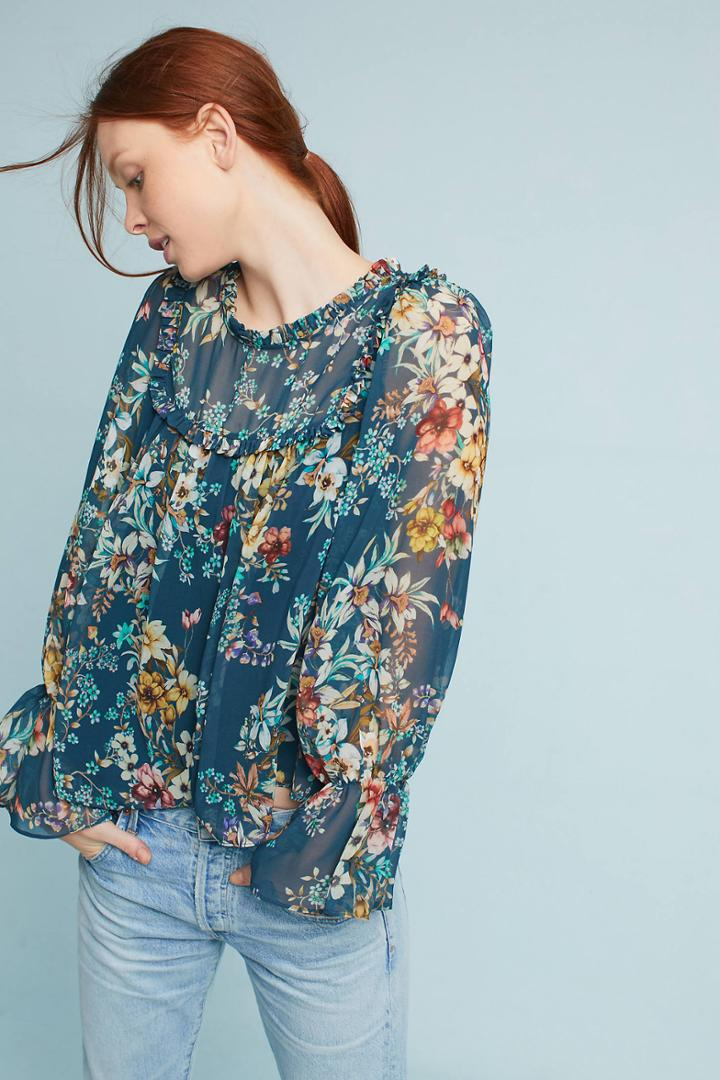 Eri + Ali Velma Ruffled Top