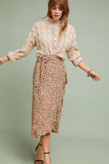 Faithfull Leopard Wrap Skirt