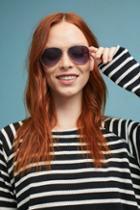 Anthropologie Aqua Aviator Sunglasses