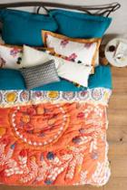 Anthropologie Zocalo Embroidered Quilt