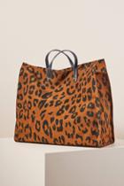 Clare V. Simple Cheetah Tote