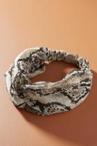 Anthropologie Snake-printed Knotted Headband