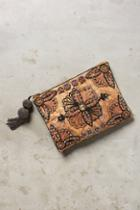 Anthropologie Beaded Jacquard Pouch