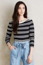 Everleigh Striped Boatneck Top