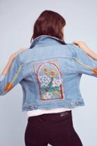 Pilcro Embroidered Denim Jacket