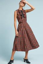 Tela Plaid Midi Skirt