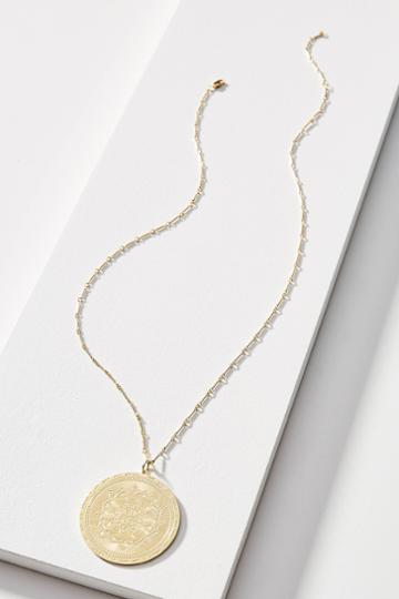 Lulu Dk Large Medallion Necklace