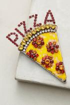 Shourouk Pizza Brooch