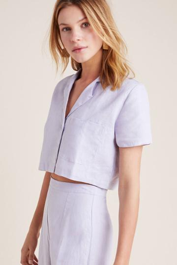 Faithfull Jacaranda Collared Top