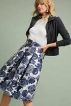Eliza J Metallic Jacquard Skirt