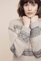 Numph Alis Striped Pullover