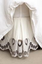Anthropologie Eyelet Embroidered Bedskirt