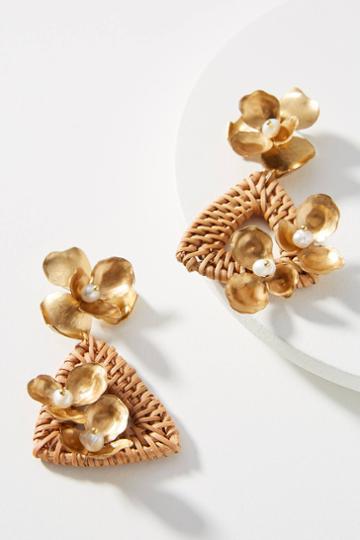 Nicola Bathie Jewelry Wicker Triangle Drop Earrings